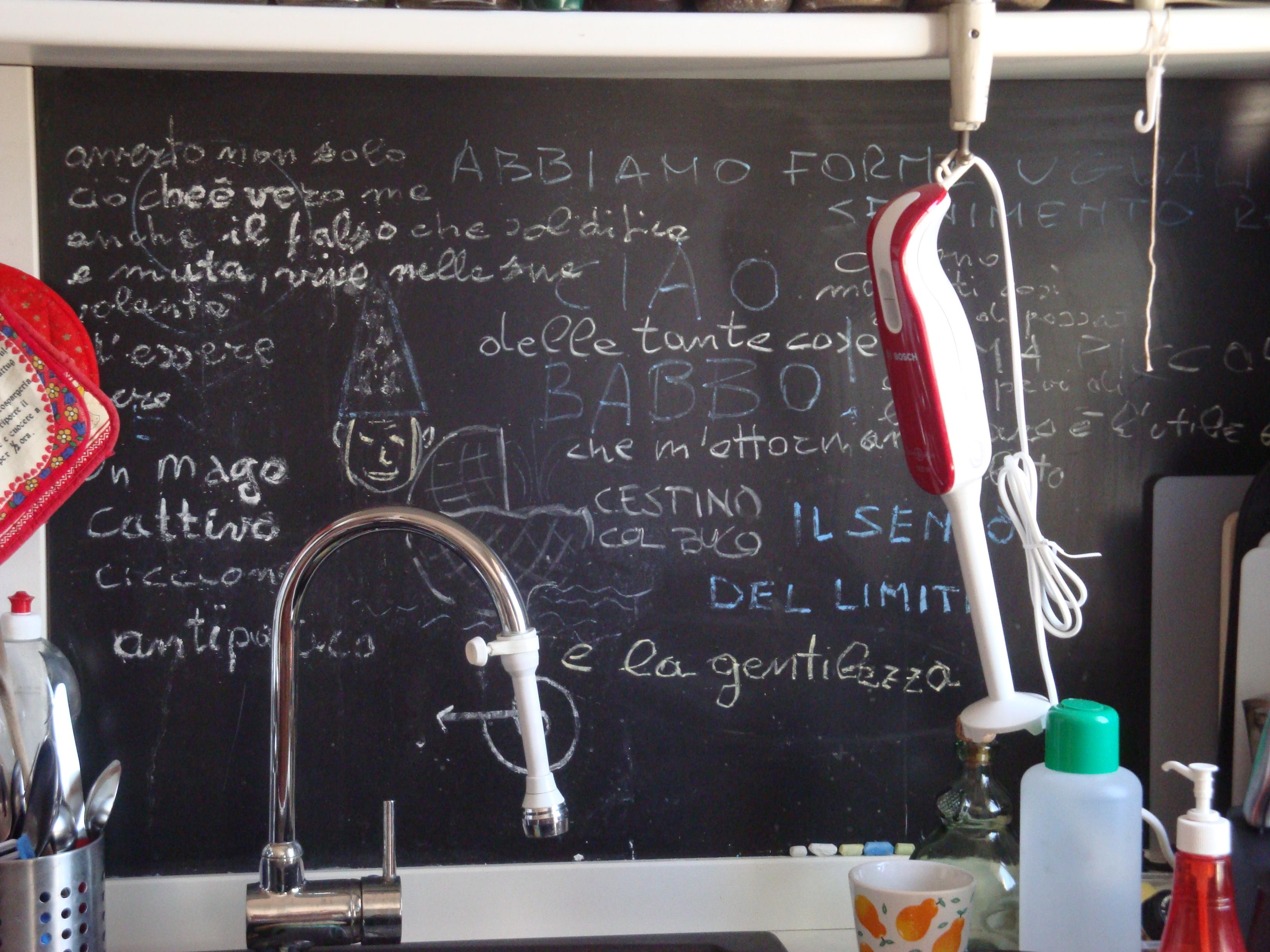 Lavagna Da Parete Cucina il senso del limite | willyco